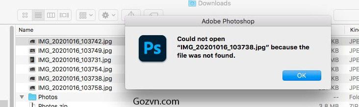 Khắc phục lỗi Adobe Photoshop không thể mở file JPG trên macOS 3